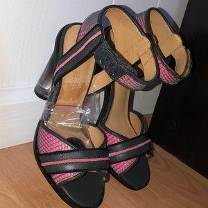 LAMB Navy & Pink Mesh Heels